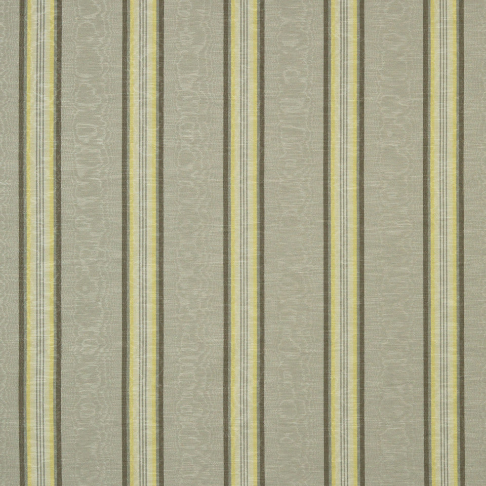 GOLDEN-MAIZE-HONEYSUCKLE Essex Stripe Fabric - Silver Birch