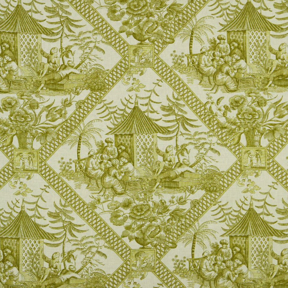 WILLIAMSBURG CLASSICS COLLECTION II Tavern Toile Fabric - Sprout