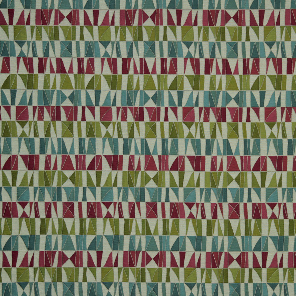 LARRY LASLO GEMSTONE Pablos Passion Fabric - Cerise