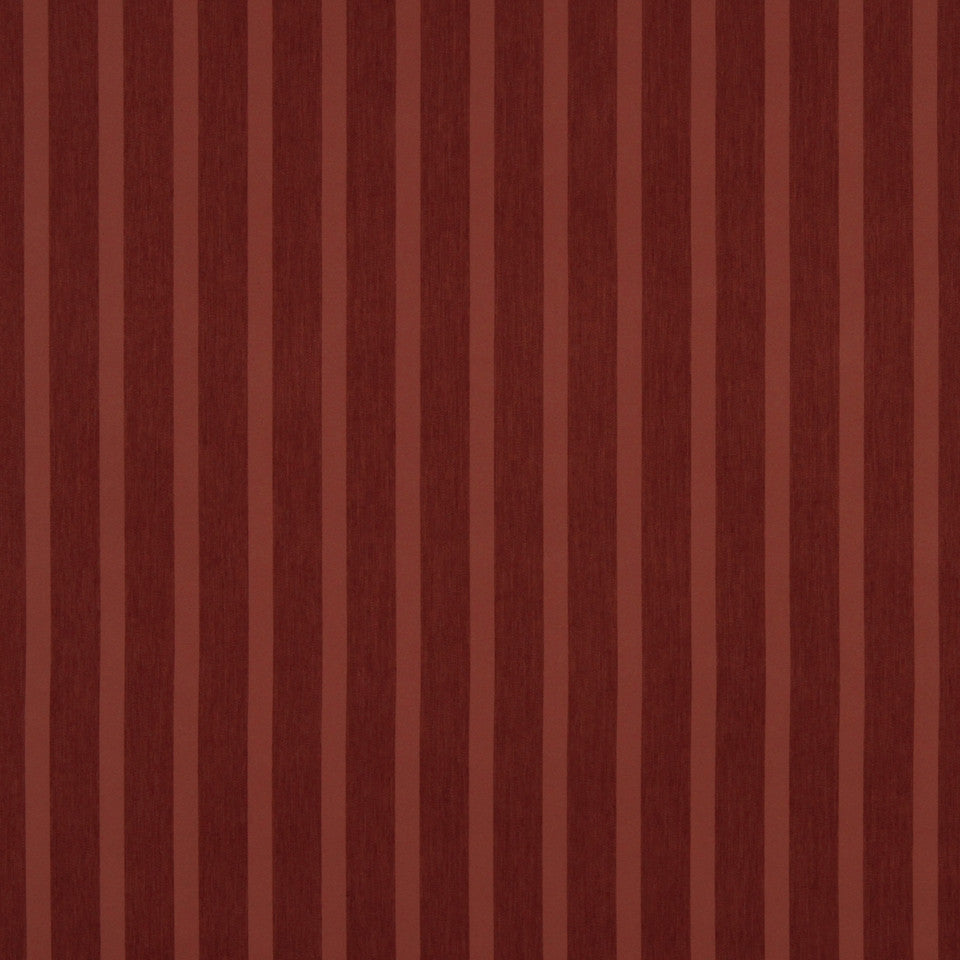 DECORATIVE DIM-OUT 97% BLACKOUT DRAPERY Smooth Stripe Fabric - Brick