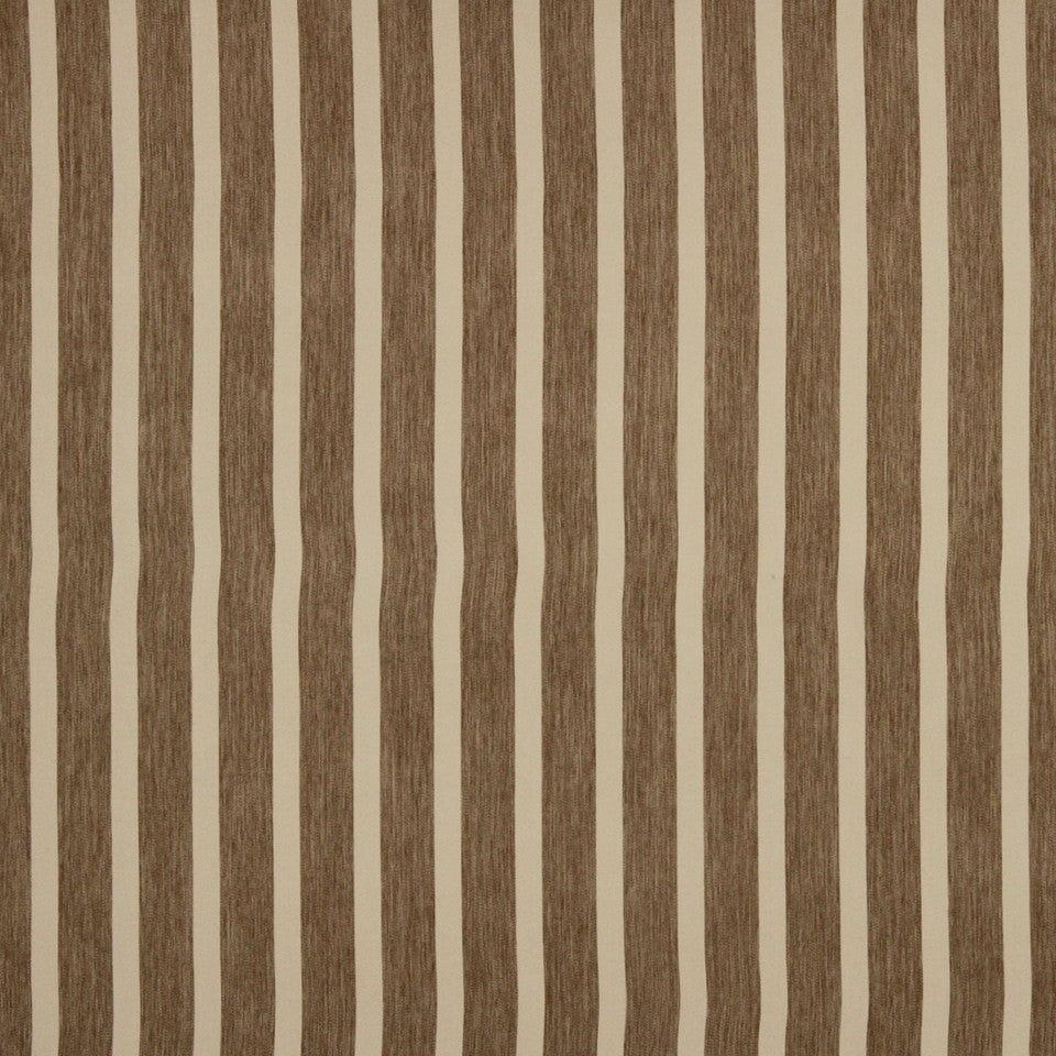DECORATIVE DIM-OUT 97% BLACKOUT DRAPERY Smooth Stripe Fabric - Buff