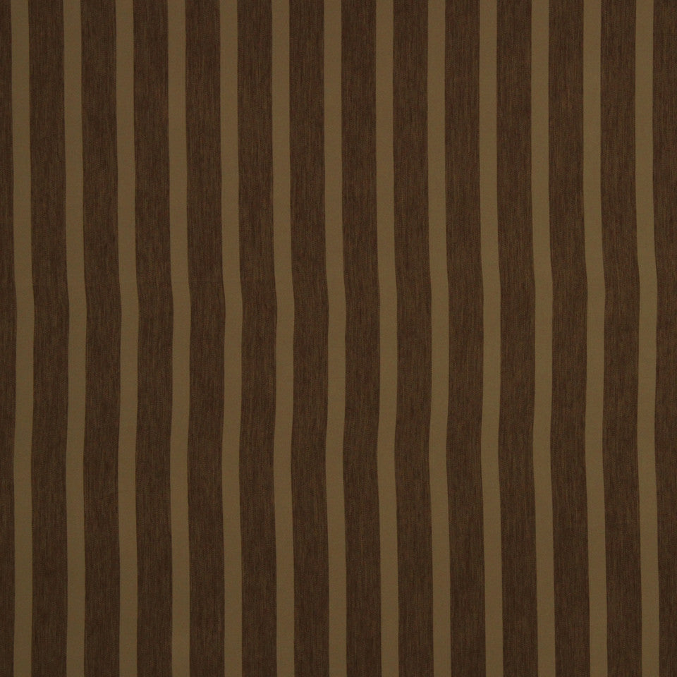 DECORATIVE DIM-OUT 97% BLACKOUT DRAPERY Smooth Stripe Fabric - Earth