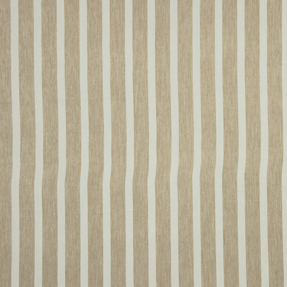 DECORATIVE DIM-OUT 97% BLACKOUT DRAPERY Smooth Stripe Fabric - Putty