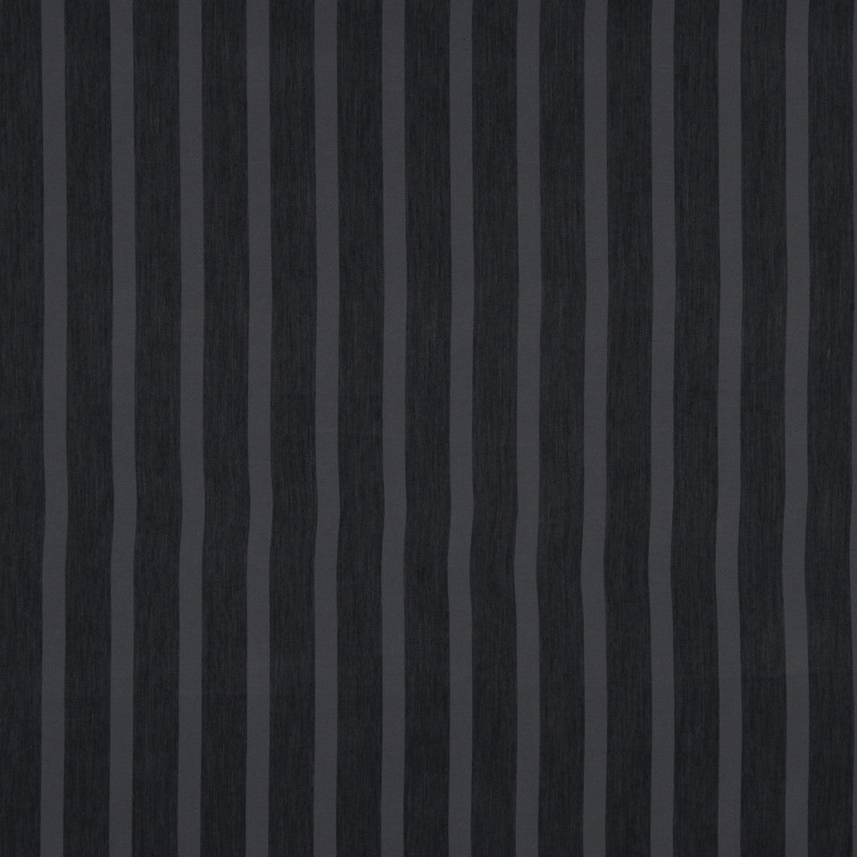 DECORATIVE DIM-OUT 97% BLACKOUT DRAPERY Smooth Stripe Fabric - Charcoal