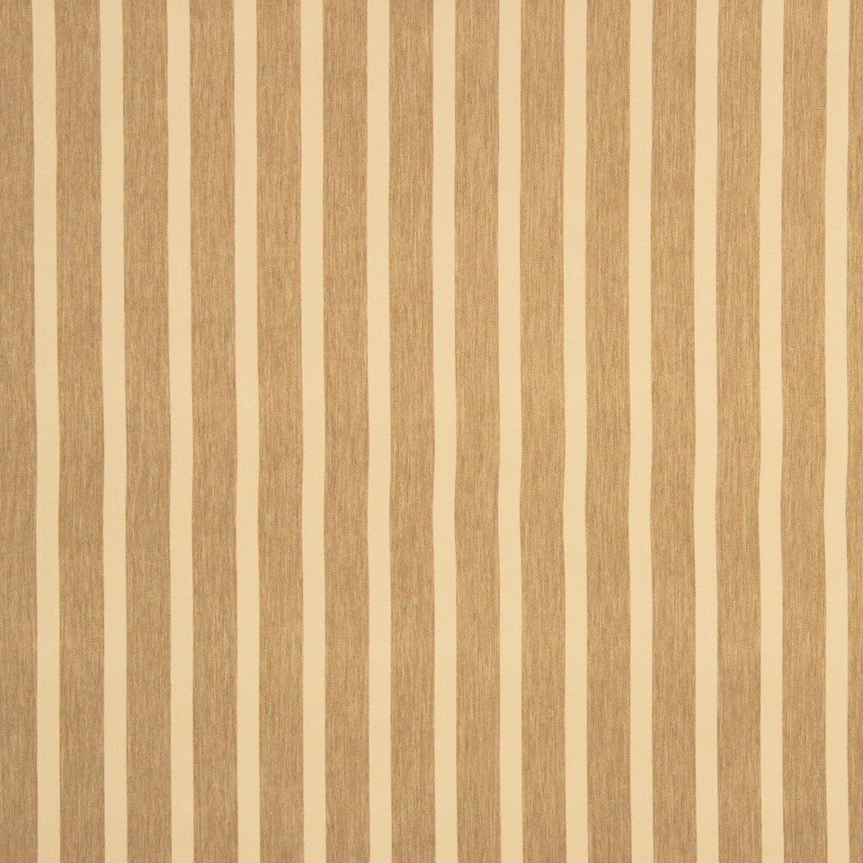 DECORATIVE DIM-OUT 97% BLACKOUT DRAPERY Smooth Stripe Fabric - Almond