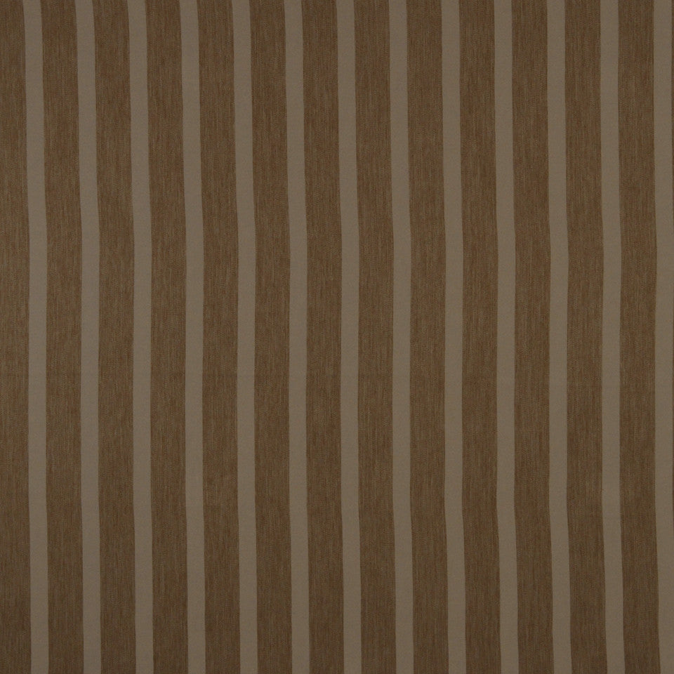 DECORATIVE DIM-OUT 97% BLACKOUT DRAPERY Smooth Stripe Fabric - Cocoa