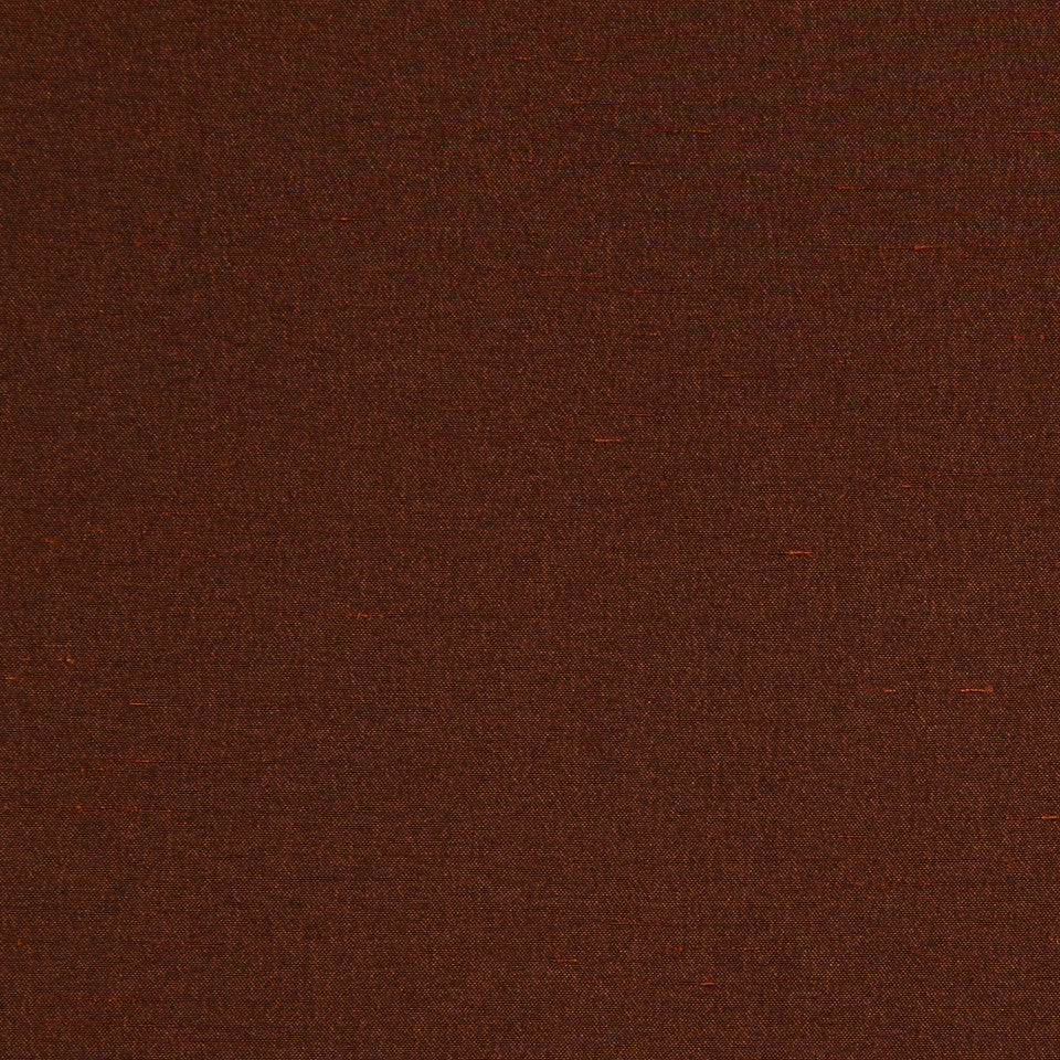 DECORATIVE DIM-OUT 97% BLACKOUT DRAPERY Luxurious Look Fabric - Rust