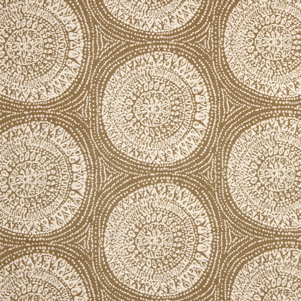 STRAW-TOAST-SADDLE Center Circle Fabric - Grain