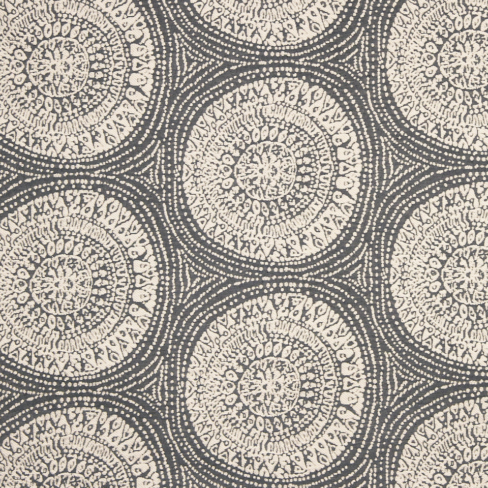 PALM-SEA-MINERAL Center Circle Fabric - Mineral
