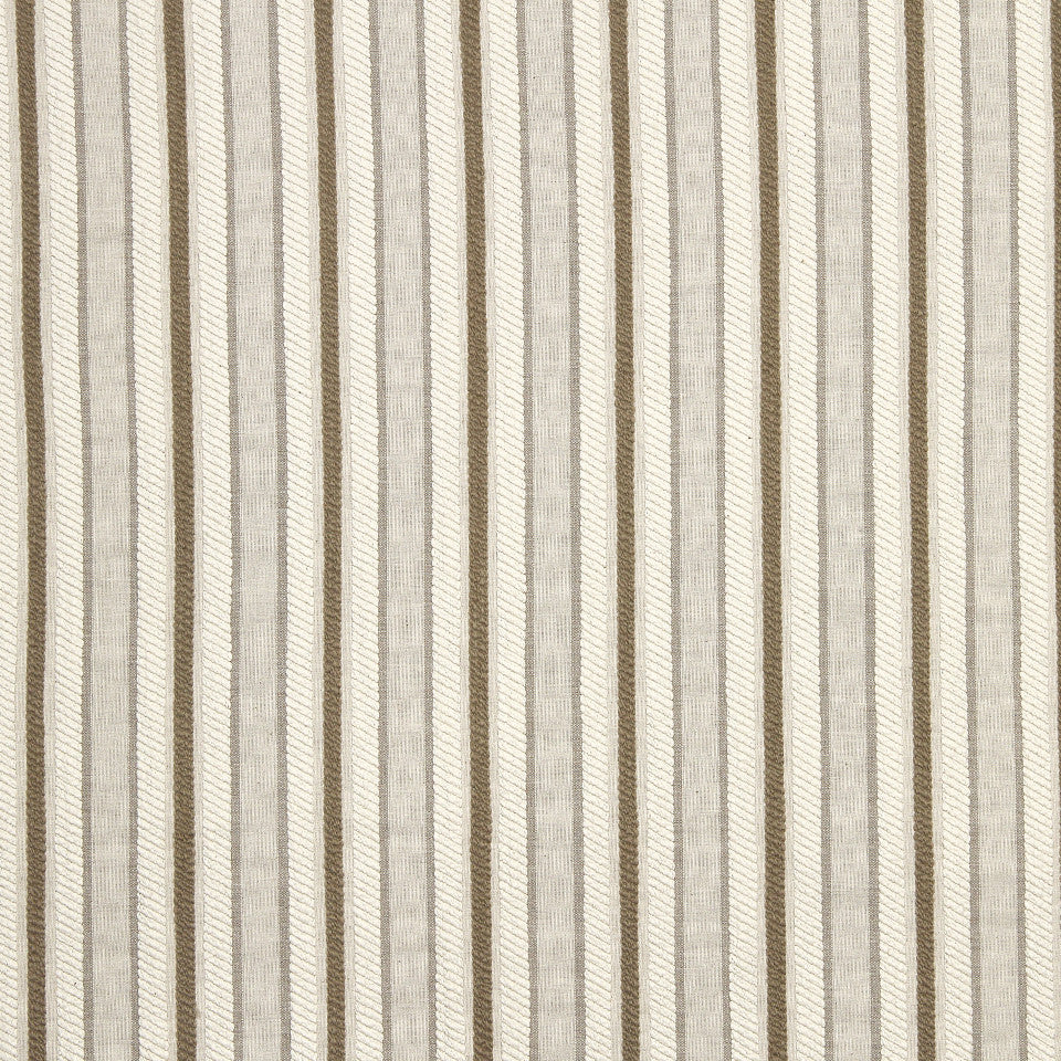 PEARL-TWINE-BLACK Jackson Stripe Fabric - Natural
