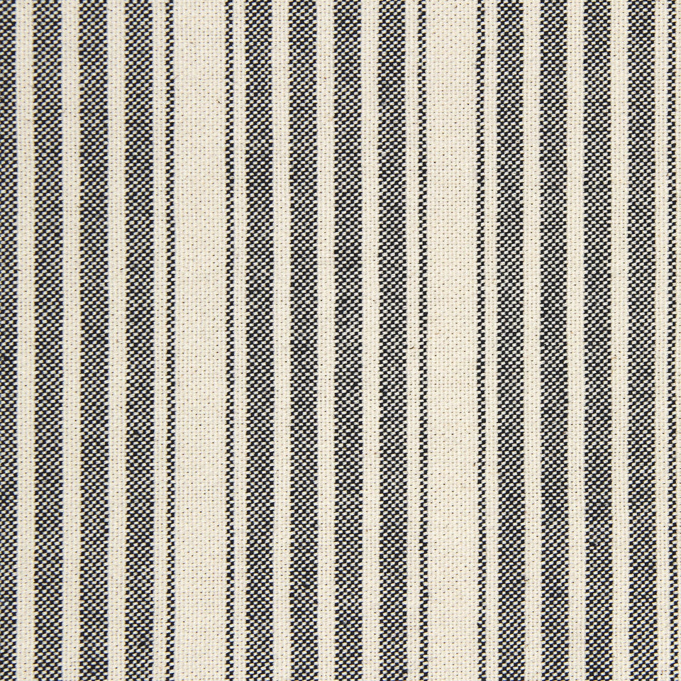 PEARL-TWINE-BLACK Hudson Stripe Fabric - Black