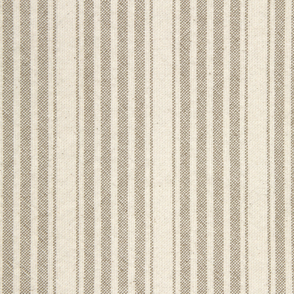 PEARL-TWINE-BLACK Hudson Stripe Fabric - Dove