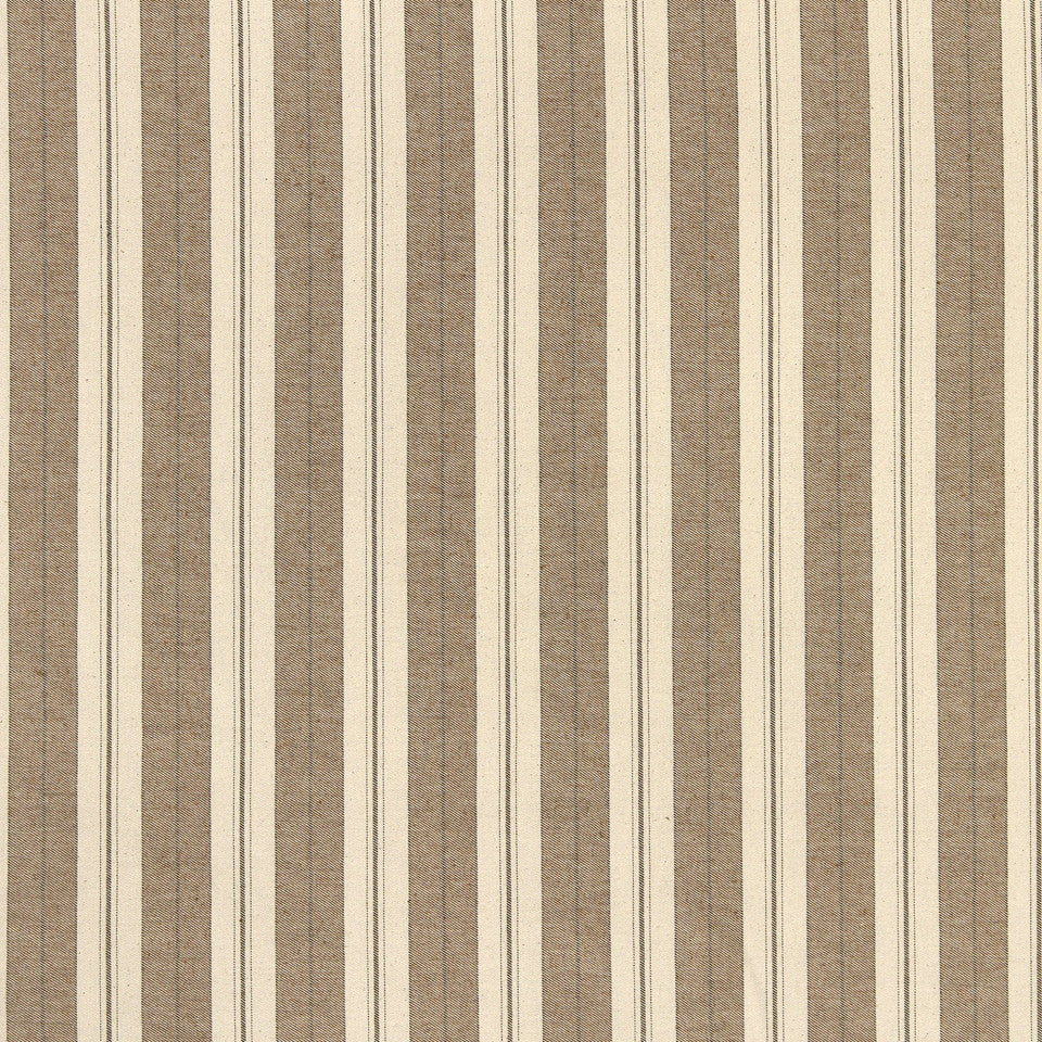 STRAW-TOAST-SADDLE Weston Stripe Fabric - Saddle