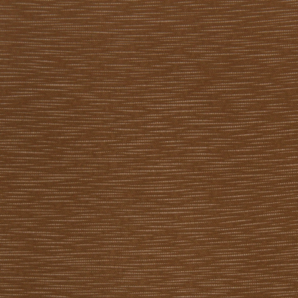 DECORATIVE DIM-OUT 97% BLACKOUT DRAPERY Calm Waters Fabric - Cinnamon