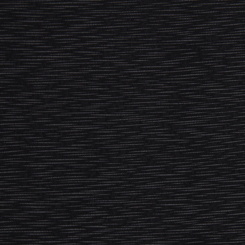 DECORATIVE DIM-OUT 97% BLACKOUT DRAPERY Calm Waters Fabric - Jet