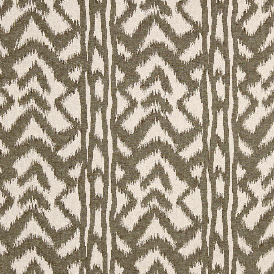 PALM-SEA-MINERAL Boulder Ikat Fabric - Palm