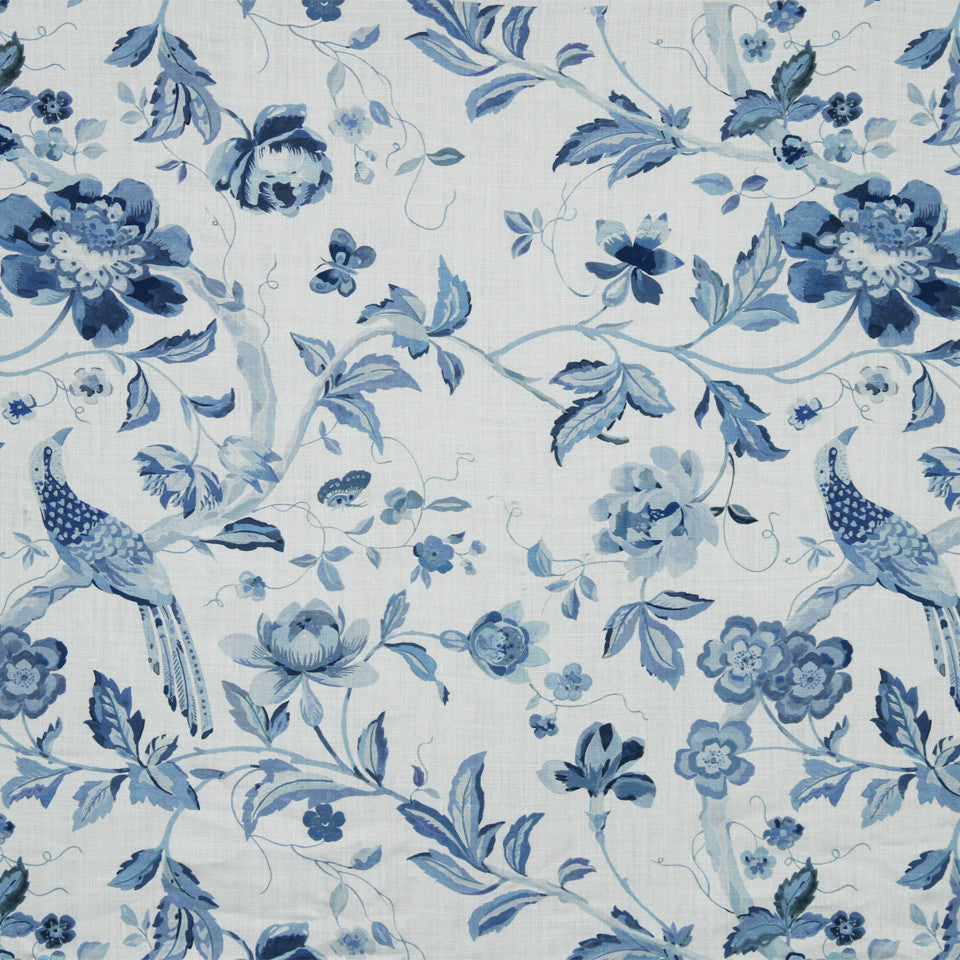 WATERCOLORS Songbird Fabric - Indigo