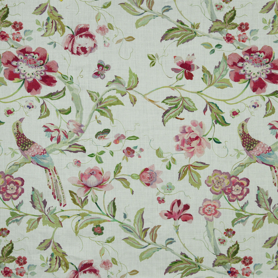 WATERCOLORS Songbird Fabric - Rose