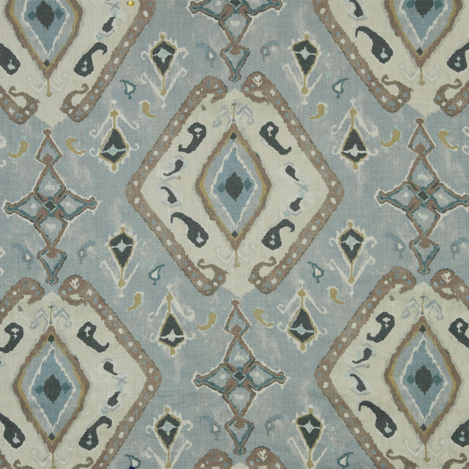 WATERCOLORS Nila Ikat Fabric - Moonstone