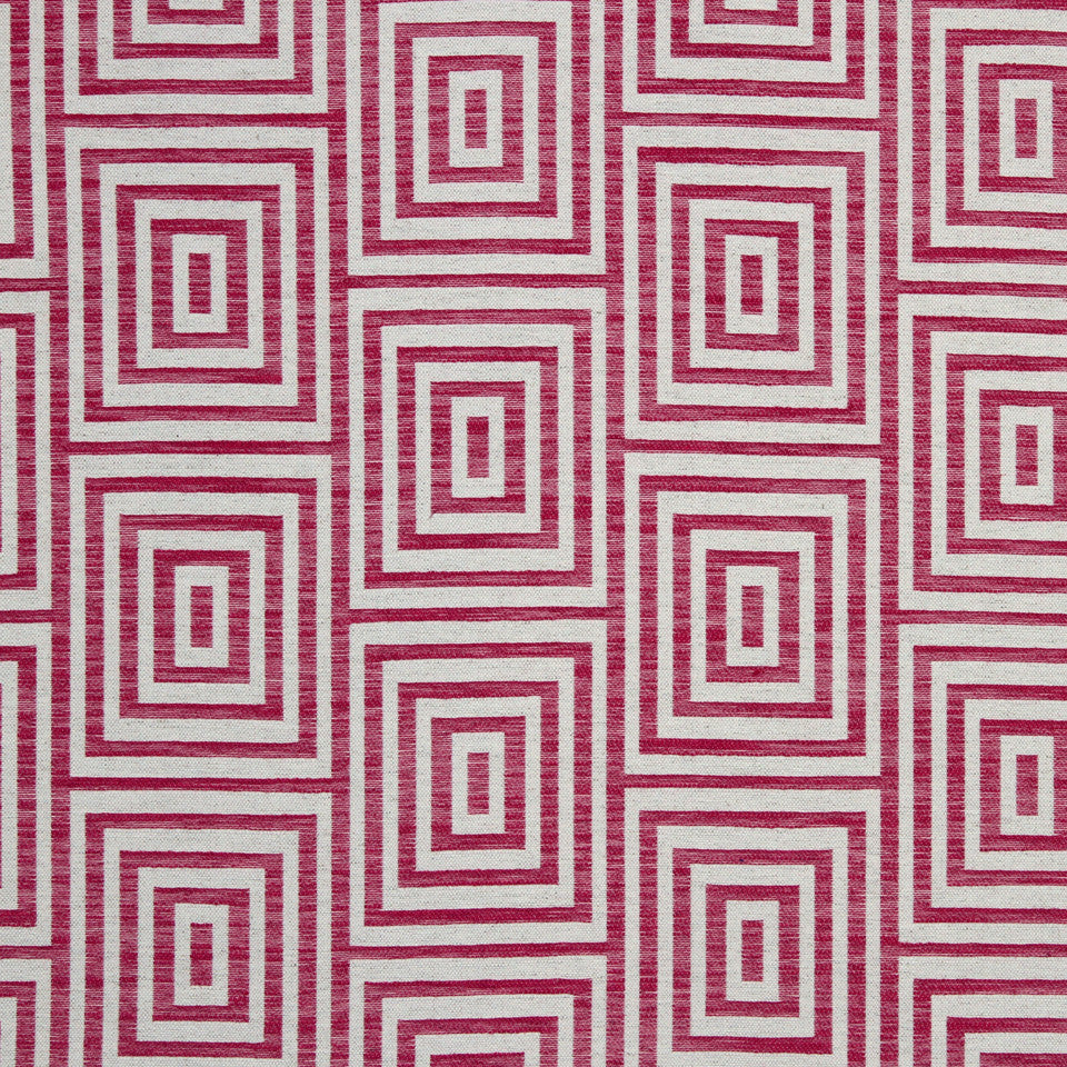 LARRY LASLO GEMSTONE Woven Geo Fabric - Cerise