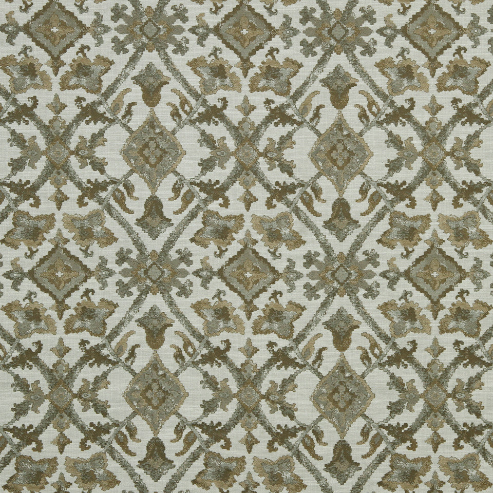 LARRY LASLO QUARTZ STONE Mosaic Field Fabric - Pearl