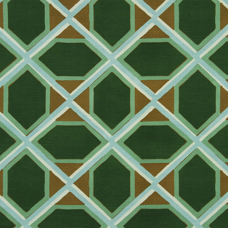 DWELLSTUDIO MODERN COLOR THEORY Coco Fabric - Malachite