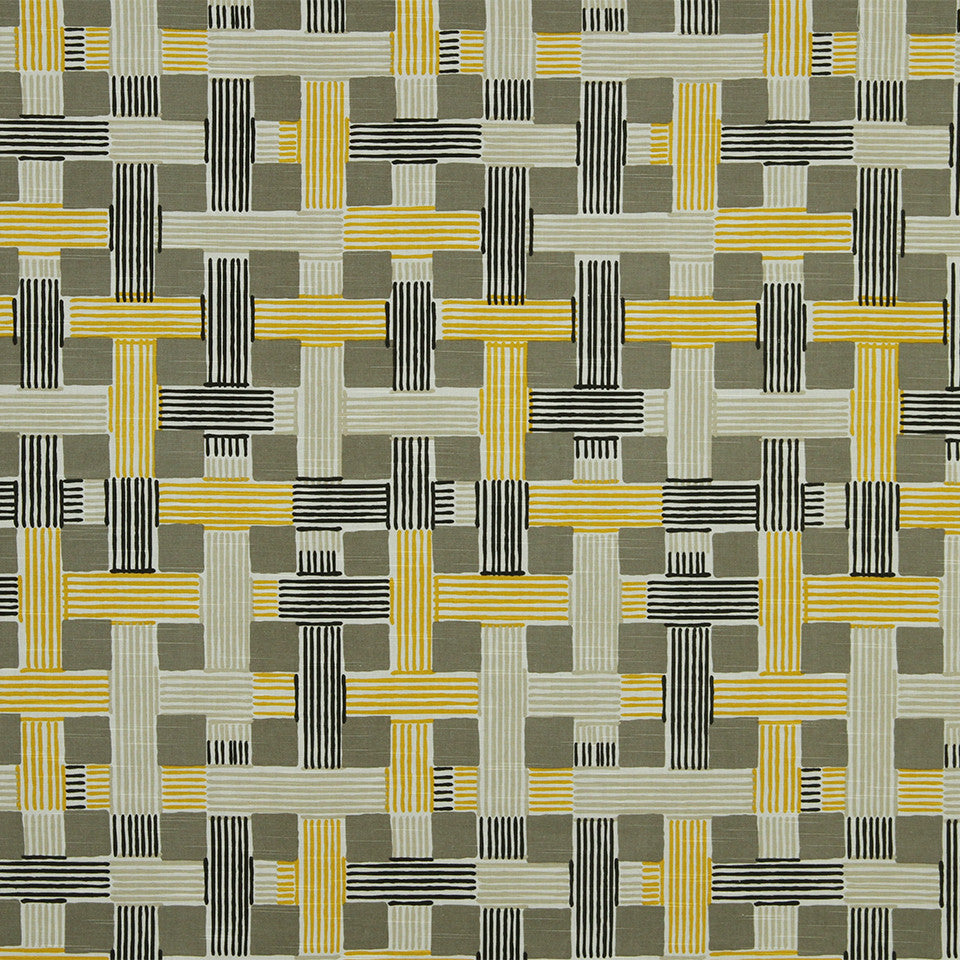 DWELLSTUDIO MODERN COLOR THEORY Illusion Weave Fabric - Citrine
