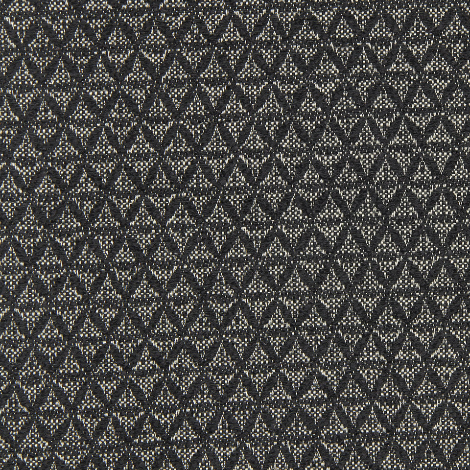 PEARL-TWINE-BLACK Diamond Askew Fabric - Black