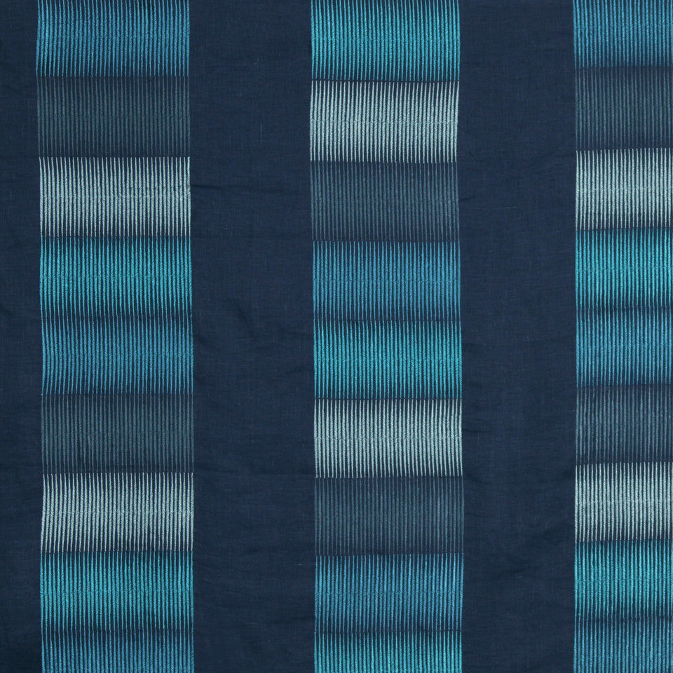LARRY LASLO GEMSTONE Paint Strokes Fabric - Aquamarine