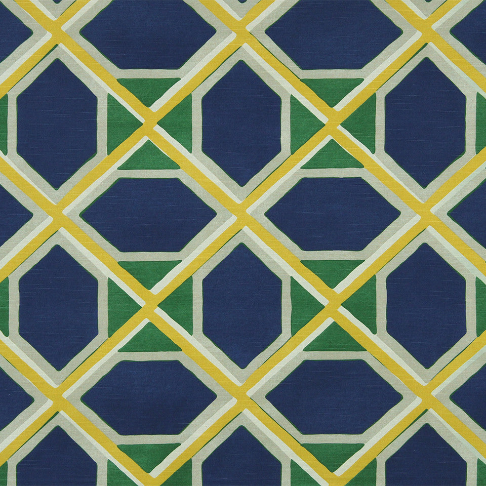 DWELLSTUDIO MODERN COLOR THEORY Coco Fabric - Ultramarine