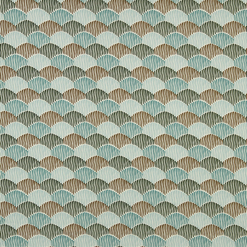 DWELLSTUDIO MODERN COLOR THEORY Ludlow Fabric - Mineral Green