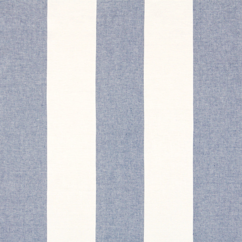 WIDE STRIPES Horizon Stripe Fabric - Indigo
