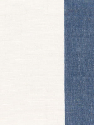 WIDE STRIPES Jasmine Stripe Fabric - Indigo