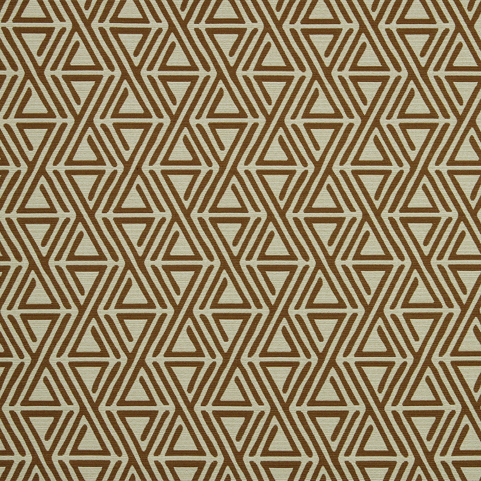 DWELLSTUDIO MODERN COLOR THEORY Triangle Maze Fabric - Copper