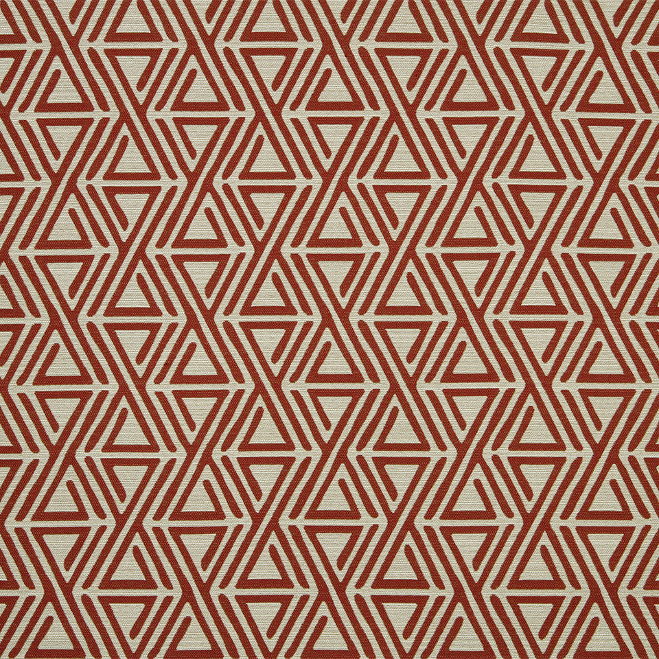 DWELLSTUDIO MODERN COLOR THEORY Triangle Maze Fabric - Currant