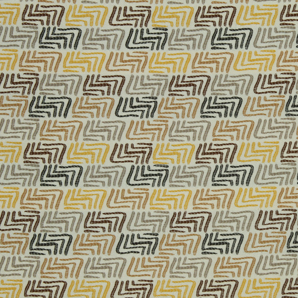 DWELLSTUDIO MODERN COLOR THEORY Track Fabric - Citrine