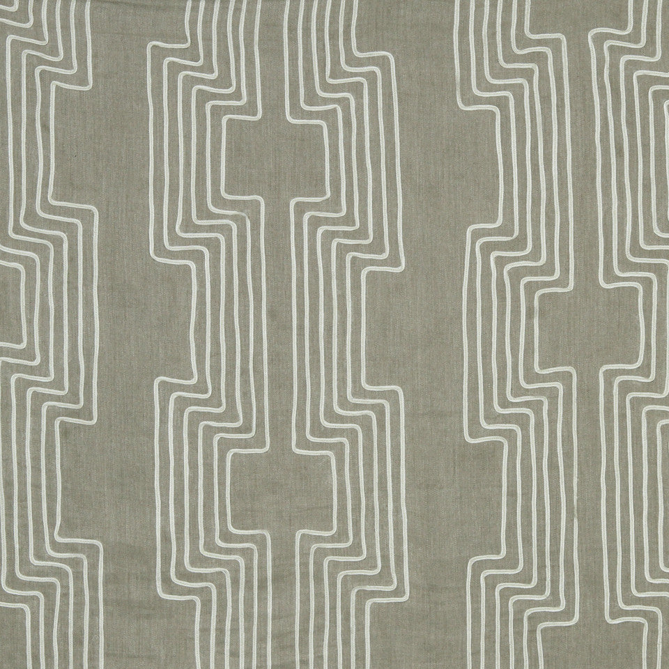 DWELLSTUDIO MODERN COLOR THEORY High Wire Fabric - Linen