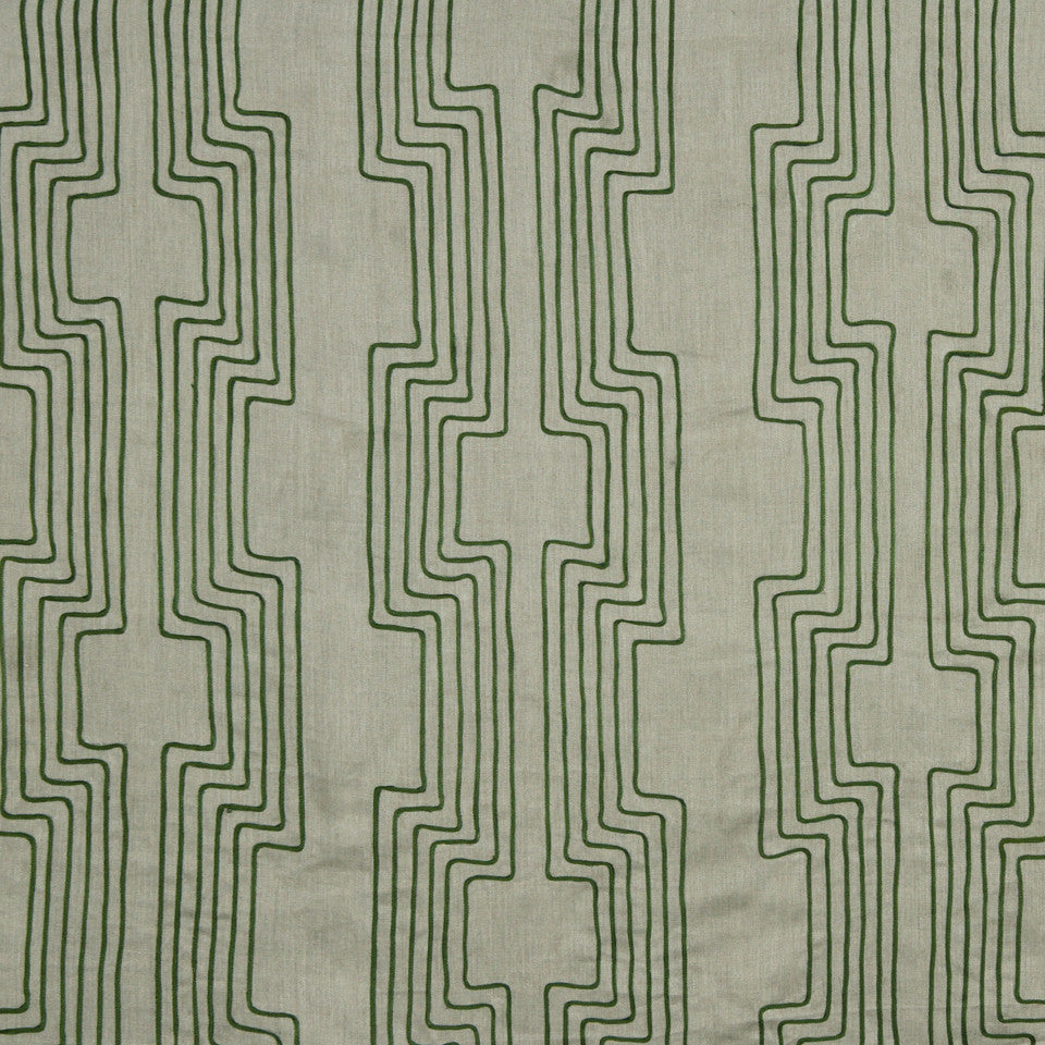 DWELLSTUDIO MODERN COLOR THEORY High Wire Fabric - Malachite