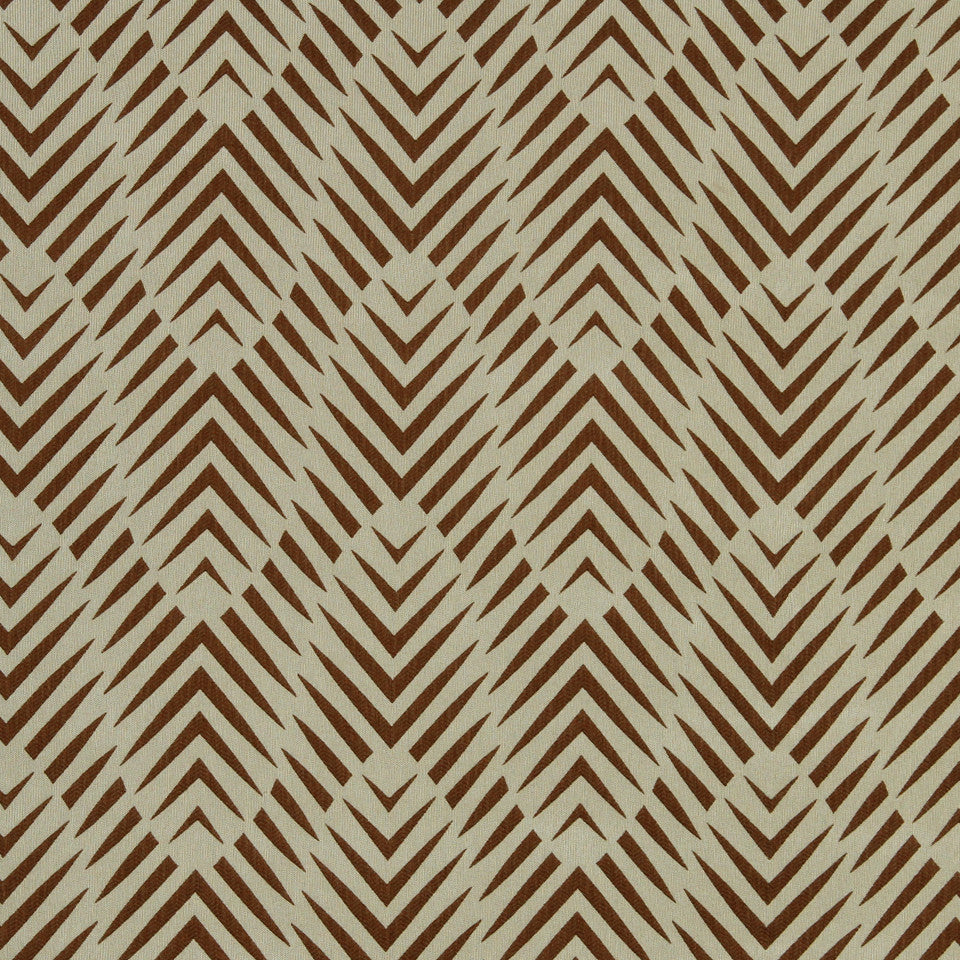 DWELLSTUDIO MODERN COLOR THEORY Zebra Geo Fabric - Copper