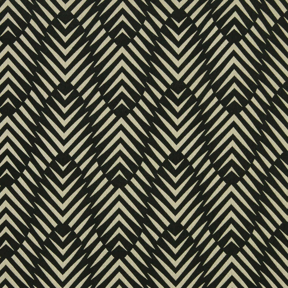 DWELLSTUDIO MODERN COLOR THEORY Zebra Geo Fabric - Ink