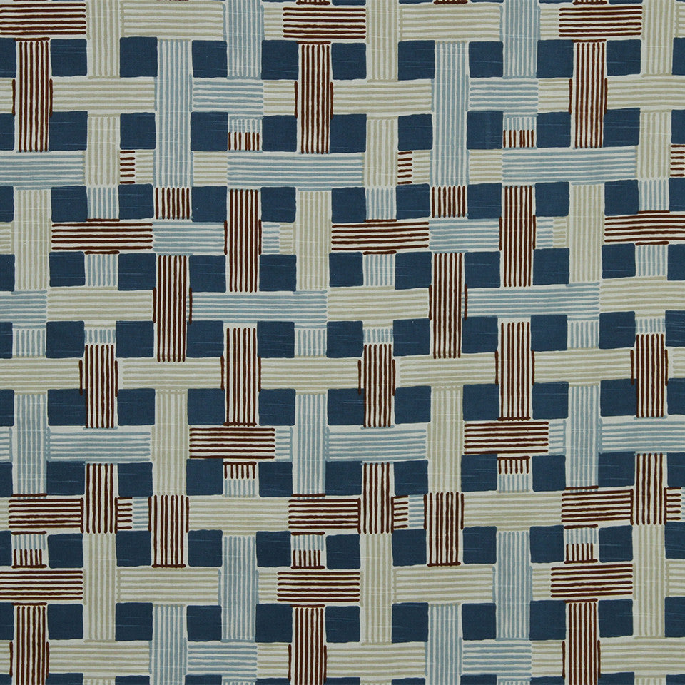 DWELLSTUDIO MODERN COLOR THEORY Illusion Weave Fabric - Copper