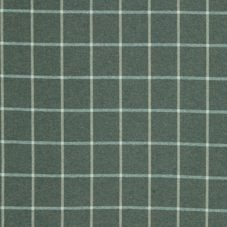 Helios Plaid Fabric - Cove