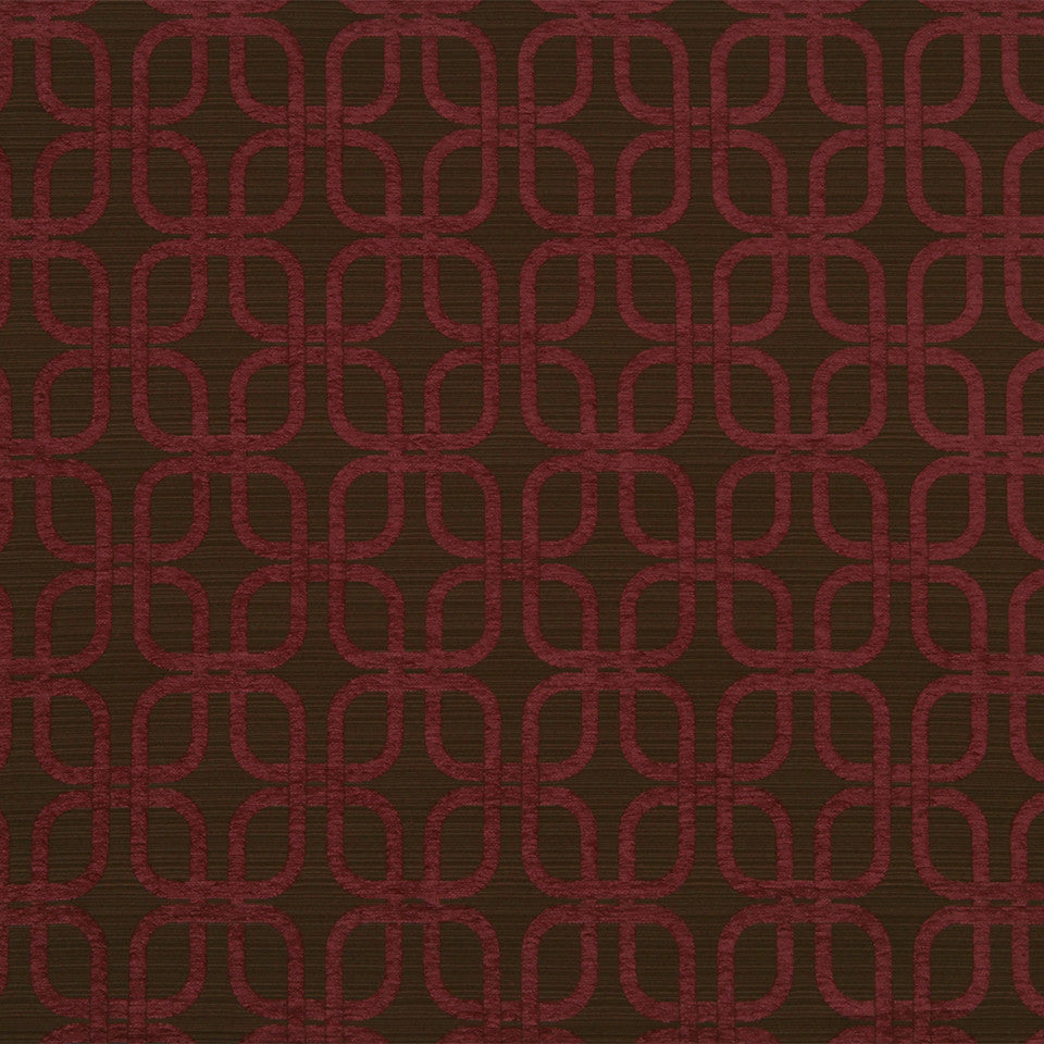 Plush Links Fabric - Berry