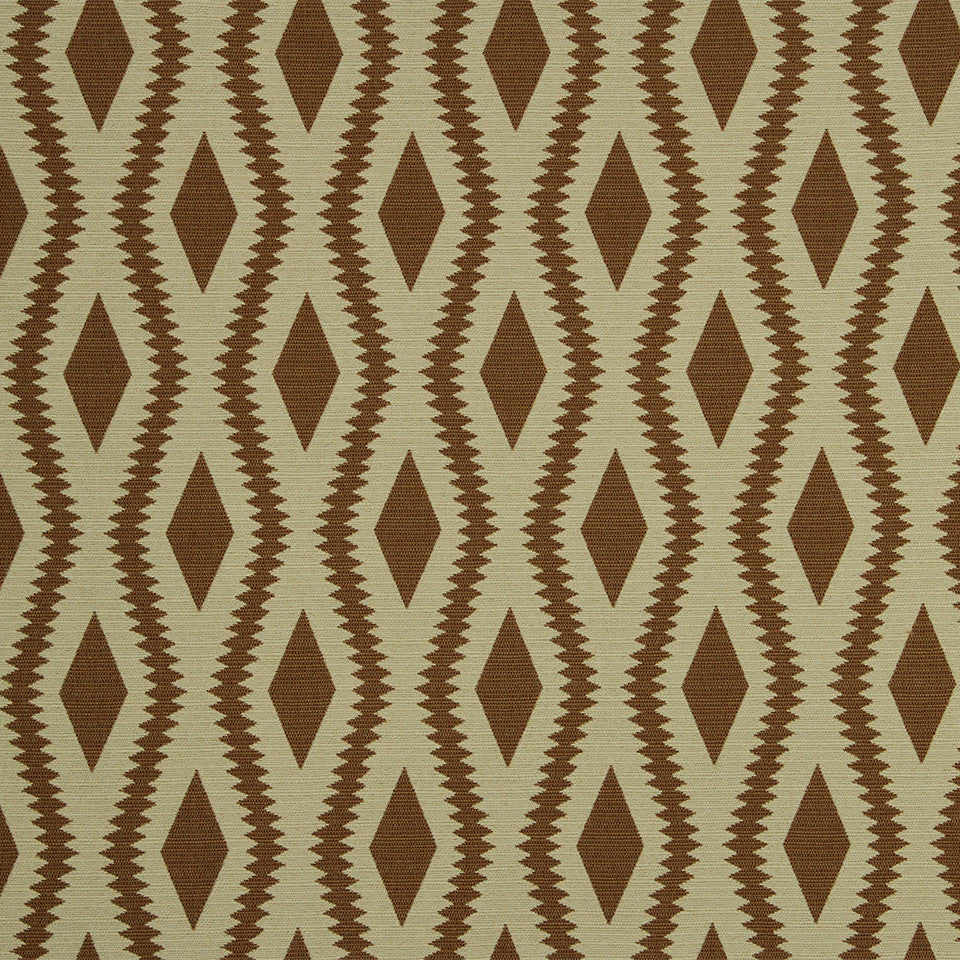 Frontier Ogee Fabric - Henna