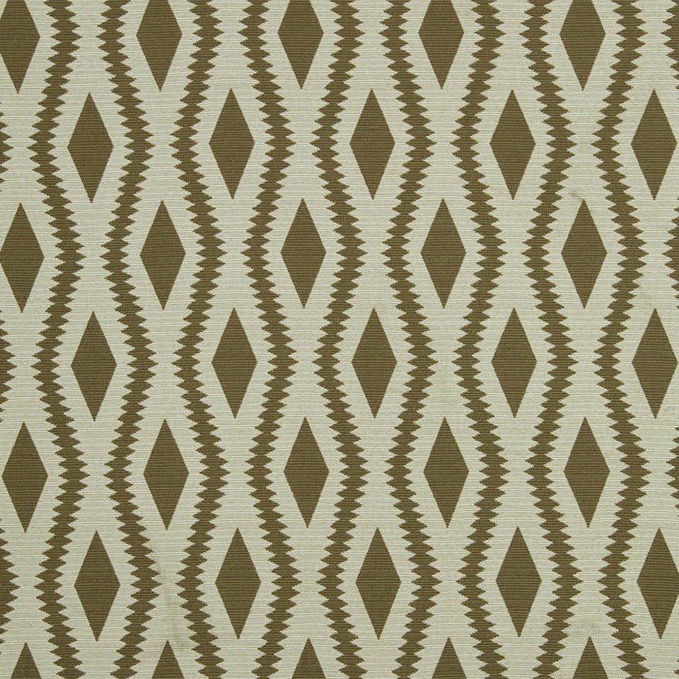 Frontier Ogee Fabric - Taupe