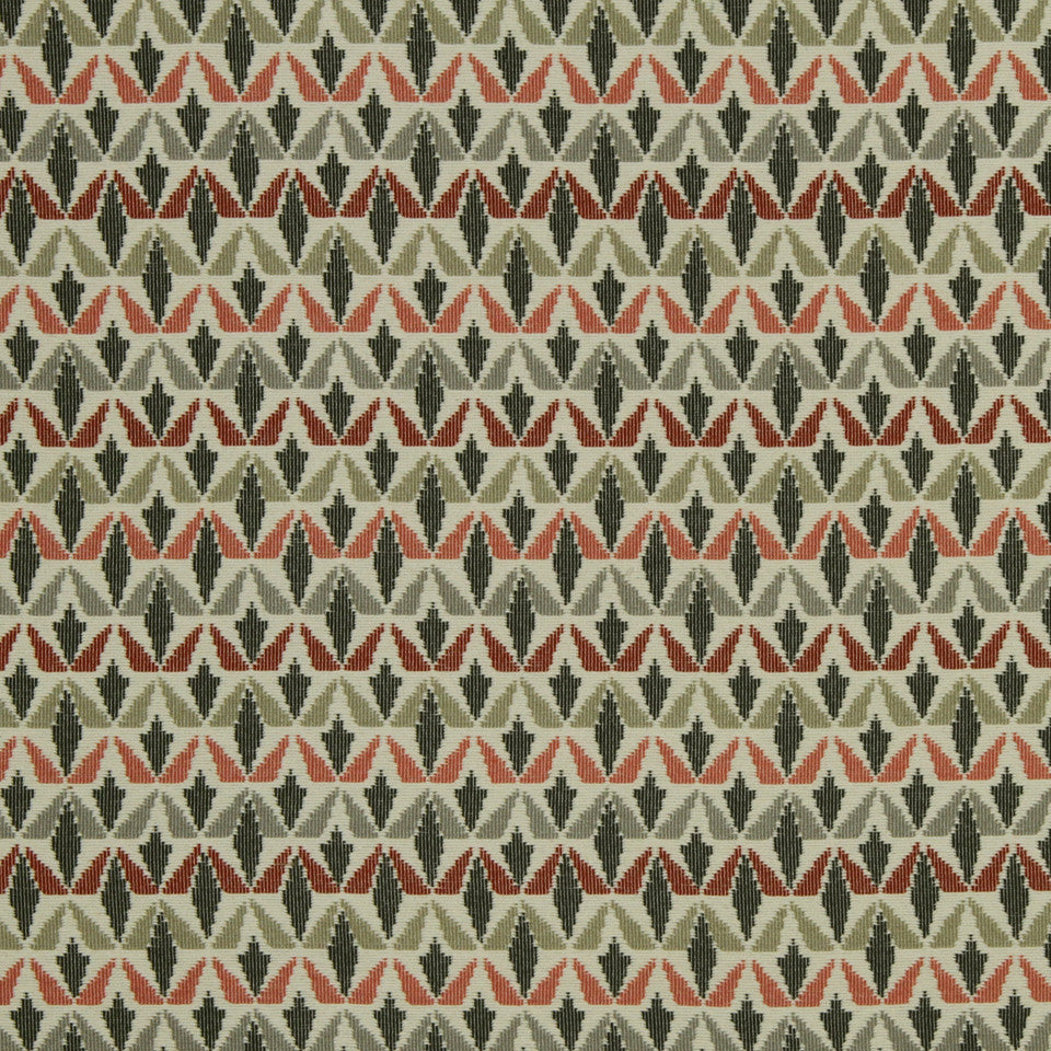 DWELLSTUDIO MODERN COLOR THEORY Grassland Fabric - Currant