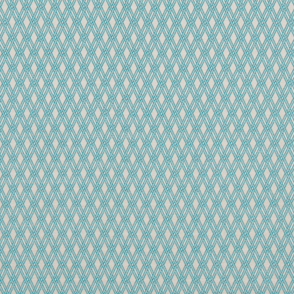 COLOR LIBRARY MULTI-PURPOSE: WATER-COBALT-SPRING GRASS Basket Form Fabric - Bright Aqua
