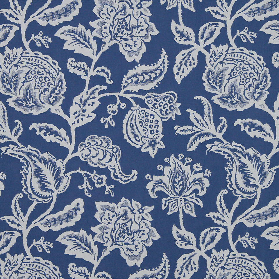 MARINER-COASTAL-NAVY Jacobean Toss Fabric - Indigo