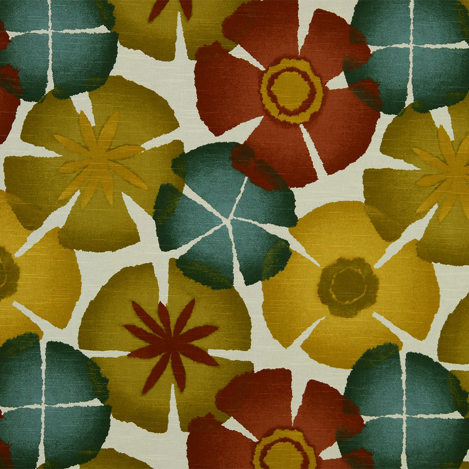 Pure Petals Fabric - Pomegranate