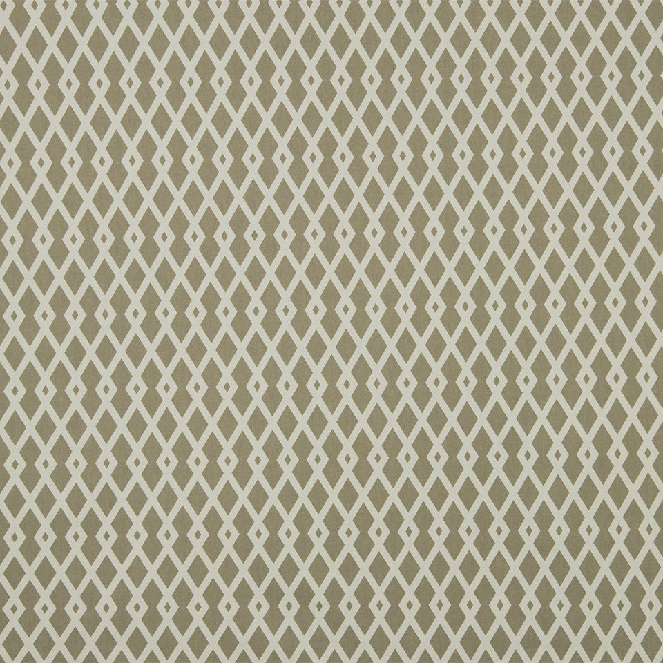 COLOR LIBRARY MULTI-PURPOSE: GLACIER-PEWTER-DRIFTWOOD Graphic Fret Fabric - Flax